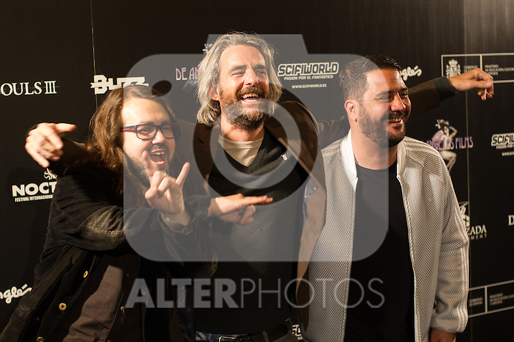 Manuel Romo, Borja Crespo and Benja de la Rosa at Nocturna, the international festival of fantastic cinema of Madrid. May 23,2016. (ALTERPHOTOS/Rodrigo Jimenez)