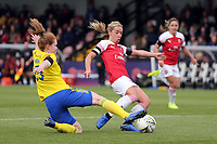 Jordan Nobbs of Arsenal Women scores the first goal during Arsenal Women vs Birmingham City Ladies, FA Women's Super League Football at Meadow Park on 4th November 2018