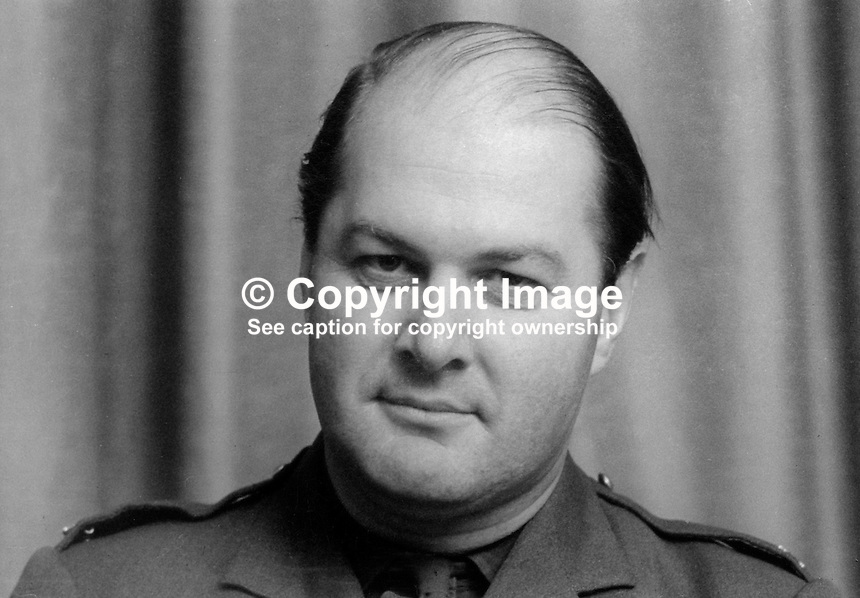 Major PR Adair, training officer, Armagh, Ulster Defence Regiment, UDR, N Ireland, 197002000039<br />