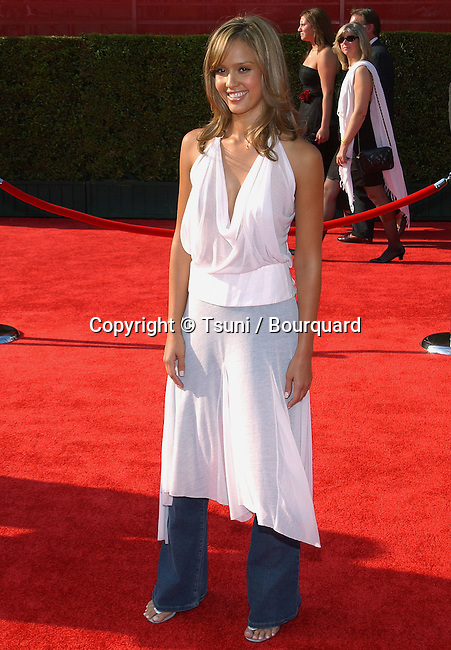 Jessica Alba arriving at the ESPY Awards at the Kodak Theatre in Los Angeles. July 16, 2003.