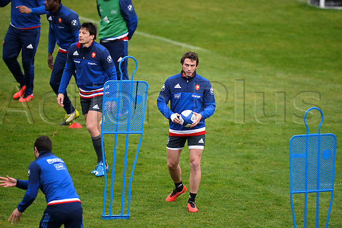 23.02.2016. CNR Marcoussis, Paris, France. The French nationaol rugby team at practise before their 6 Nations game against Wales on 25th February 2016.  Maxime Medard (fra)
