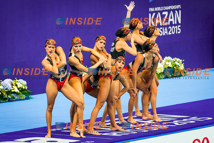 Brazil BRA<br /> Synchro Team Teach<br /> Day02 25/07/2015<br /> XVI FINA World Championships Aquatics Synchro<br /> Kazan Tatarstan RUS July 24 - Aug. 9 2015 <br /> Photo Pasquale Mesiano/Deepbluemedia/Insidefoto