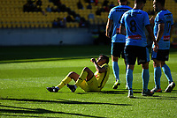 Ulises Davila reacts to his miss during the A-League football match between Wellington Phoenix and Sydney FC at Sky Stadium in Wellington, New Zealand on Saturday, 21 December 2019. Photo: Dave Lintott / lintottphoto.co.nz