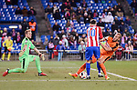 Atletico de Madrid's Yannick Carrasco and SD Eibar's Yoel Rodriguez and Alejandro Galvez during Copa del Rey match between Atletico de Madrid and SD Eibar at Vicente Calderon Stadium in Madrid, Spain. January 19, 2017. (ALTERPHOTOS/BorjaB.Hojas)
