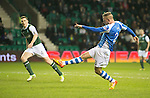 Hibs v St Johnstone.....11.02.13      SPL.Rowan Vine fires in his first goal.Picture by Graeme Hart..Copyright Perthshire Picture Agency.Tel: 01738 623350  Mobile: 07990 594431