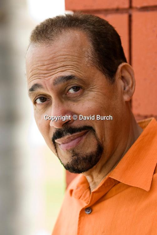 Mature hispanic man with pleasant expression
