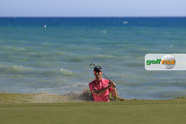 Alvaro Quiros (ESP) on the 15th green during Round 3 of The Rocco Forte Open  at Verdura Golf Club on Saturday 20th May 2017.<br /> Photo: Golffile / Thos Caffrey.<br /> <br /> All photo usage must carry mandatory copyright credit     (&copy; Golffile | Thos Caffrey)