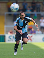 Paul Hayes of Wycombe Wanderers in action during the Sky Bet League 2 match between Wycombe Wanderers and York City at Adams Park, High Wycombe, England on 8 August 2015. Photo by Andy Rowland.