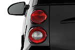 Tail light close up detail view of a 2008 Smartfortwo