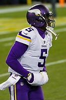 Minnesota Vikings quarterback Teddy Bridgewater (5) during a National Football League game against the Green Bay Packers on December 23rd, 2017 at Lambeau Field in Green Bay, Wisconsin. Minnesota defeated Green Bay 16-0. (Brad Krause/Krause Sports Photography)