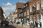 Rochester Kent UK. Tourists in the High Street.