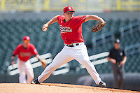 Birmingham Barons relief pitcher J.B. Wendelken (34) in action against the Tennessee Smokies at Regions Field on May 4, 2015 in Birmingham, Alabama.  The Barons defeated the Smokies 4-3 in 13 innings. (Brian Westerholt/Four Seam Images)