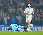 Yaya Toure of Manchester City grimaces following a challenge - Manchester City vs. CSKA Moscow - UEFA Champions League - Etihad Stadium - Manchester - 05/11/2014 Pic Philip Oldham/Sportimage
