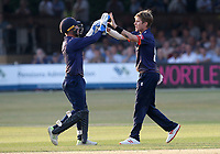 Adam Zampa of Essex celebrates taking the wicket of Dwayne Bravo during Essex Eagles vs Middlesex, Vitality Blast T20 Cricket at The Cloudfm County Ground on 6th July 2018