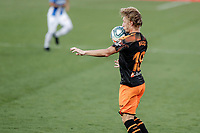 12th July 2020; Estadio Municipal de Butarque, Madrid, Spain; La Liga Football, Club Deportivo Leganes versus Valencia; Daniel Wass (Valencia CF)  controls the ball off his chest
