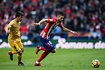 Yannick Ferreira Carrasco (R) of Atletico de Madrid fights for the ball with Pere Pons Riera of Girona FC during the La Liga 2017-18 match between Atletico de Madrid and Girona FC at Wanda Metropolitano on 20 January 2018 in Madrid, Spain. Photo by Diego Gonzalez / Power Sport Images