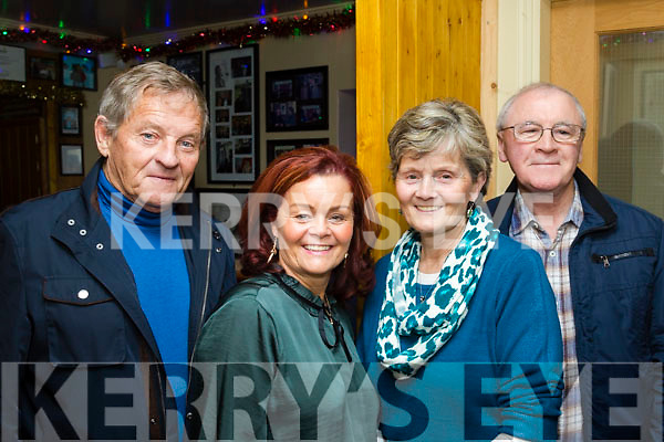 L-R Pat&Geraldine O'Driscoll with Regina&Peter Corrigan during New Years Eve celebrations in the South Pole Inn, Anascaul.