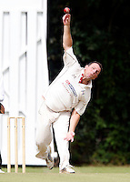 Tony Duckett bowls for Highgate during the Middlesex County League Division Three game between Highgate and Bessborough at Park Road, Crouch End on Sat Sept 4, 2010