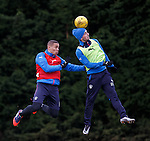 James Tavernier and Nicky Clark