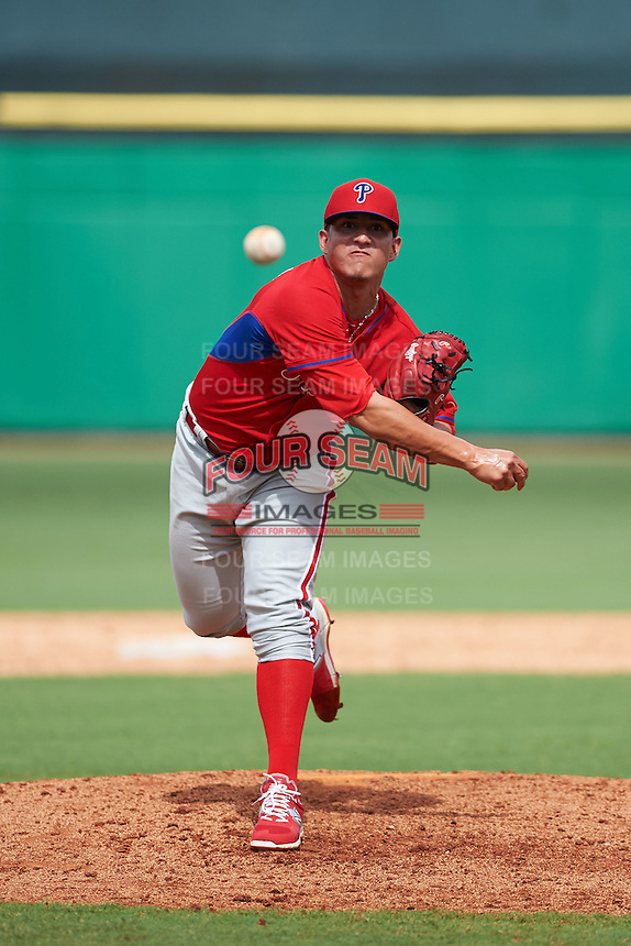 Philadelphia Phillies pitcher Alexis Rivero (80) during an instructional league game against the New York Yankees on September 29, 2015 at Brighthouse Field in Clearwater, Florida.  (Mike Janes/Four Seam Images)