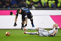 Bram Nuytinck Udinese, Mauro Icardi Inter.<br /> Milano 15-12-2018 Stadio San Siro Football Calcio Serie A 2018/2019 Inter - Udinese   <br /> Foto Image Sport / Insidefoto