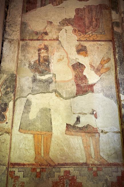 Pictures & Images of the Archangel Georgian Orthodox Church interior Georgian style fresco paintings of georgian noblemen, 10th - 11th century, Upper Krikhi, Krikhi, Georgia (country).