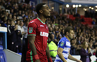 Leroy Fer of Swansea City prior to kick off of the Carabao Cup Third Round match between Reading and Swansea City at Madejski Stadium, Reading, England, UK. Tuesday 19 September 2017
