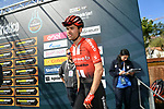 Tom Dumoulin (NED) Team Sunweb at sign on before the start of Stage 5 of the Race of the Two Seas, the 54th Tirreno-Adriatico 2019, running 180km from Colli al Matauro to Recanati, Italy. 17th March 2019.<br /> Picture: LaPresse/Gian Mattia D'Alberto | Cyclefile<br /> <br /> <br /> All photos usage must carry mandatory copyright credit (© Cyclefile | LaPresse/Gian Mattia D'Alberto)