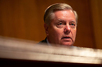 United States Senator Lindsey Graham (Republican of South Carolina) speaks at a hearing on the crisis at the Southwest Border where Acting Secretary of the United States Department of Homeland Security Kevin McAleenan testified before the U.S. Senate Judiciary Committee on Capitol Hill in Washington D.C., U.S. on June 11, 2019. Photo Credit: Stefani Reynolds/CNP/AdMedia