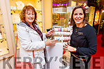 Kay O'Carroll from Ballyduff getting looked after by Ciara Nolan at Nolans/Hilsers Jewellerys on Friday.