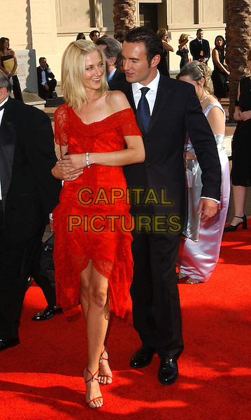 JOELY RICHARDSON & JULIAN McMAHON.at the Academy of Television Arts & SciencesÕ 2003 Primetime Creative Arts Emmy Awards held at The Shrine Auditorium .www.capitalpictures.com.sales@capitalpictures.com.©Capital Pictures..full length, full-length