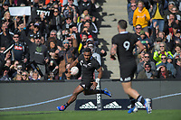 Sevu Reece scores during the international rugby union match between the New Zealand All Blacks and Tonga at FMG Stadium in Hamilton, New Zealand on Saturday, 7 September 2019. Photo: Dave Lintott / lintottphoto.co.nz