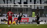 12.08.2018, Commerzbank - Arena, Frankfurt, GER, Supercup, Eintracht Frankfurt vs FC Bayern M&uuml;nchen , <br />DFL REGULATIONS PROHIBIT ANY USE OF PHOTOGRAPHS AS IMAGE SEQUENCES AND/OR QUASI-VIDEO.<br />im Bild<br />Robert Lewandowski (M&uuml;nchen) erzielt das Tor zum 1:0<br /> <br /> Foto &copy; nordphoto / Bratic