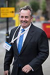 © Joel Goodman - 07973 332324 . 02/10/2017. Manchester, UK. DR LIAM FOX at the start of the second day of the Conservative Party Conference at the Manchester Central Convention Centre . Photo credit : Joel Goodman