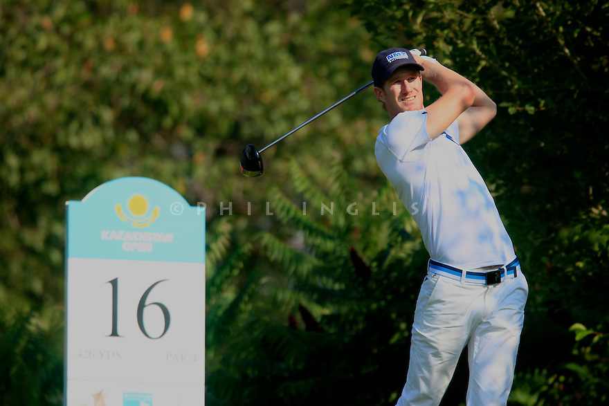 Will Besseling (NED) during the final round of the Kazakhstan Open played at Zhailjau Golf Resort, Almaty on September 16, 2012 in Almaty, Kazakhstan.(Picture Credit / Phil Inglis)