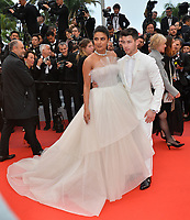 "CANNES, FRANCE. May 18, 2019: Nick Jonas & Priyanka Chopra at the gala premiere for ""The Most Beautiful Years of a Life"" at the Festival de Cannes.<br /> Picture: Paul Smith / Featureflash"
