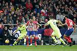 (L to R) Club Atletico de Madrid's Koke Resurreccion, Rodrigo Hernandez and Futbol Club Barcelona's Sergi Roberto, Luis Suarez during La Liga match. November 24,2018. (ALTERPHOTOS/Alconada)