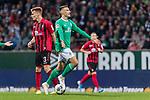 02.11.2019, wohninvest WESERSTADION, Bremen, GER, 1.FBL, Werder Bremen vs SC Freiburg<br /> <br /> DFL REGULATIONS PROHIBIT ANY USE OF PHOTOGRAPHS AS IMAGE SEQUENCES AND/OR QUASI-VIDEO.<br /> <br /> im Bild / picture shows<br /> Philipp Lienhart (SC Freiburg #03), <br /> Maximilian Eggestein (Werder Bremen #35) ärgert sich über abgepfiffenen Spielzug, <br /> <br /> Foto © nordphoto / Ewert
