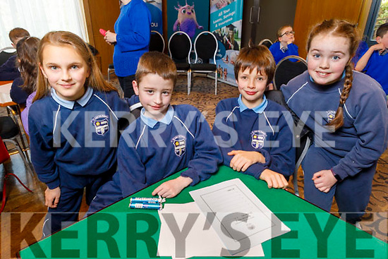St John's NS Kenmare students Laura Stauch, Billy Lynch, Tiernan O'Shea and Orla O'Riley at the Regional finals of the Chapter 23 Credit Union quiz in the Ballyroe Heights Hotel on Sunday