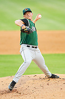 Augusta GreenJackets relief pitcher Scotty Walker #33 in action against the Kannapolis Intimidators at CMC-Northeast Stadium on May 3, 2012 in Kannapolis, North Carolina.  The Intimidators defeated the GreenJackets 11-1.  (Brian Westerholt/Four Seam Images)