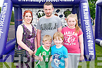 Front L-R Ben Carmody and Evan Cronin, Back L-R Joanne, Padraig and Lauryn Carmody all from Rathmore enjoying Holy Family National School Family Fun Day in Rathmore last Sunday.