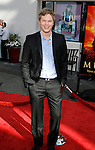 "Actor Luke Ford arrives at the American Premiere of ""The Mummy: Tomb Of The Dragon Emperor at the Gibson Amphitheatre on July 27, 2008 in Universal City, California."