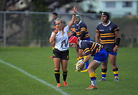 Action from the rugby union match between Wellington Axecolts and Rongotai College 1st XV at Wellington RFC in Wellington, New Zealand on Saturday, 13 June 2020. Photo: Dave Lintott / lintottphoto.co.nz