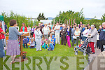 Large crowds attended the opening of the community Gardens at Tech Amergin on Waterville on Friday last.