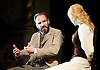 The Master Builder <br /> by Henrik Ibsen adapted by David Hare<br /> at The Old Vic Theatre, London, Great Britain <br /> press photocall <br /> 29th January 2016 <br /> <br /> Ralph Fiennes as Halvard Solness<br /> <br /> Sarah Snook as Hilde Wangel<br /> <br /> <br /> <br /> <br /> Photograph by Elliott Franks <br /> Image licensed to Elliott Franks Photography Services