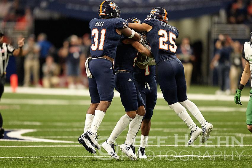 SAN ANTONIO, TX - NOVEMBER 18, 2017: The University of Texas at San Antonio Roadrunners defeat the Marshall University Thundering Herd 9-7 at the Alamodome. (Photo by Jeff Huehn)