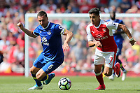 Phil Jagielka of Everton and Alexis Sanchez of Arsenal during Arsenal vs Everton, Premier League Football at the Emirates Stadium on 21st May 2017