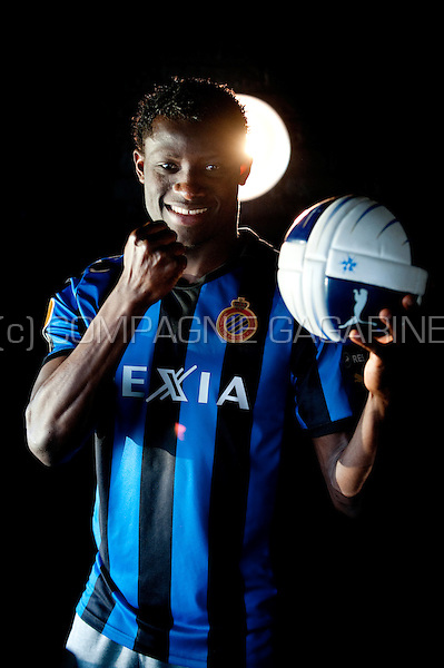 Nigerian football player Joseph Akpala (Belgium, 24/02/2012)