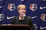 17 January 2014: NWSL Executive Director Cheryl Bailey. The 2014 National Women's Soccer League Draft was held at the NSCAA Annual Convention in the Pennsylvania Convention Center in Philadelphia, Pennsylvania.
