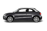 Car Driver side profile view of a 2016 Audi A1 Sport 3 Door Hatchback Side View